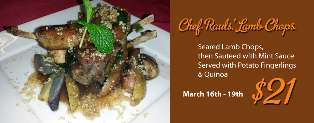 Chef Raul's Lamb Chops